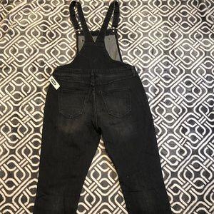 3c69b119d003 Old Navy Pants - Straight Black-Wash Denim Overalls for Women